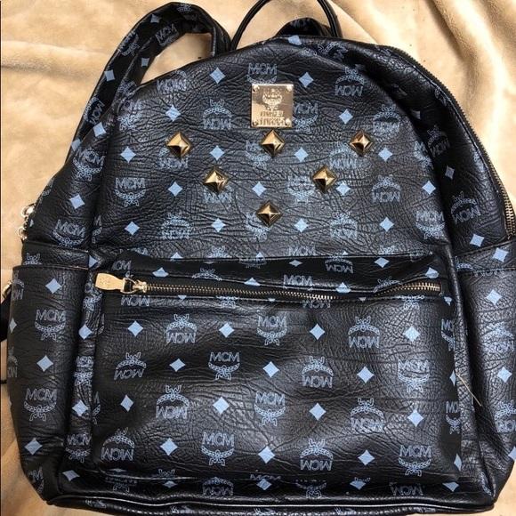 MCM Bags | Black Studded Backpack | Poshmark